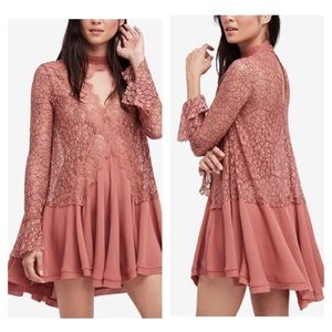 Free people lace tunic/dress - Rosy Coral 💕